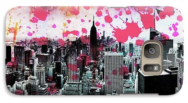 Empire State Building Galaxy S7 Case - Splatter Pop by Az Jackson