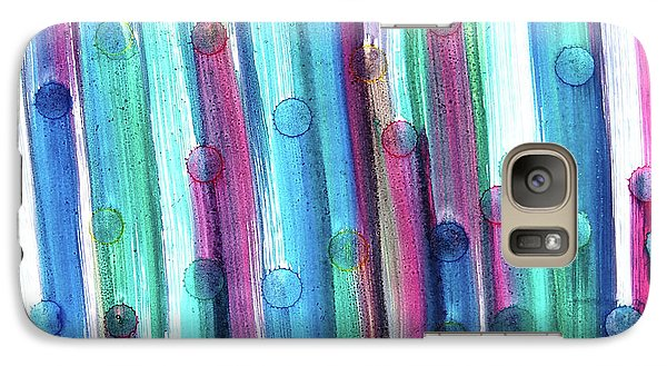 Galaxy Case featuring the painting Splatterdash by Tom Druin