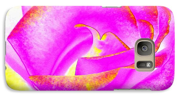 Galaxy Case featuring the mixed media Splendid Rose Abstract by Will Borden