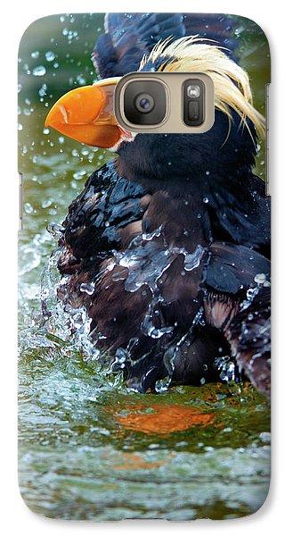 Puffin Galaxy S7 Case - Splish Splash by Mike Dawson