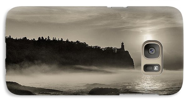 Galaxy S7 Case featuring the photograph Split Rock Lighthouse Emerging Fog by Rikk Flohr
