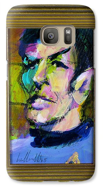 Galaxy Case featuring the painting Spock by Les Leffingwell