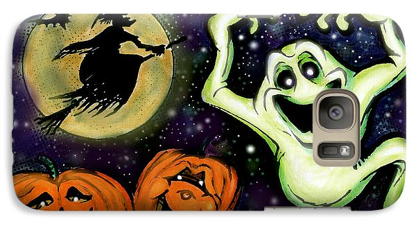 Galaxy Case featuring the painting Spooky by Kevin Middleton