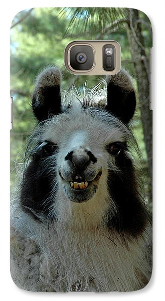 Galaxy Case featuring the photograph Spooky Llama by LeeAnn McLaneGoetz McLaneGoetzStudioLLCcom