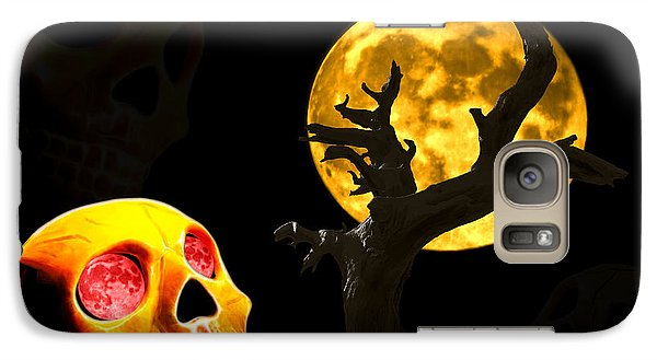 Galaxy Case featuring the photograph Spooky Night by Shane Bechler