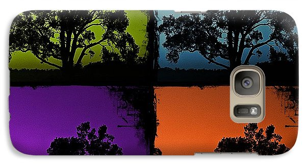 Galaxy Case featuring the photograph Spooky Tree- Collage 1 by KayeCee Spain