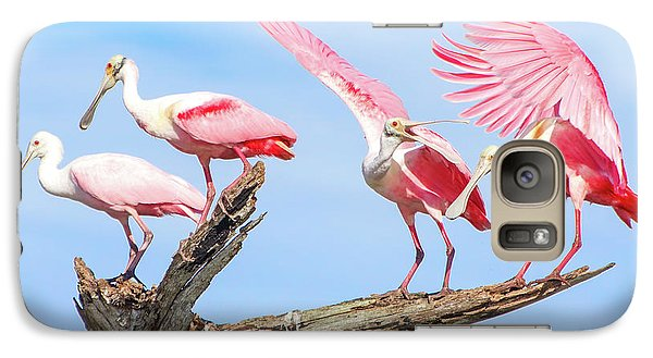 Spoonbill Party Galaxy S7 Case by Mark Andrew Thomas