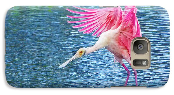 Spoonbill Splash Galaxy S7 Case by Mark Andrew Thomas