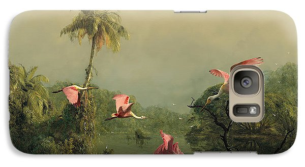 Spoonbills In The Mist Galaxy S7 Case by Spadecaller