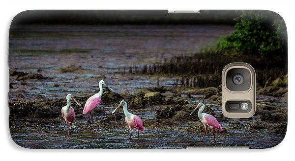 Spoonbill Galaxy S7 Case - Spooning Party by Marvin Spates