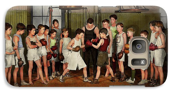 Galaxy Case featuring the photograph Sport - Boxing - Fists Of Fury 1924 by Mike Savad