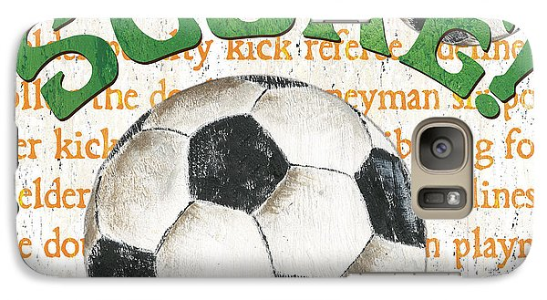 Sports Fan Soccer Galaxy Case by Debbie DeWitt