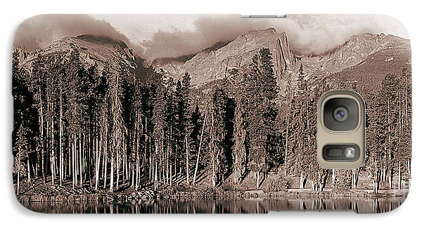 Galaxy Case featuring the photograph Sprague Lake Morning by Thomas Bomstad