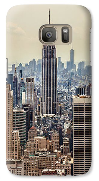 Empire State Building Galaxy S7 Case - Sprawling Urban Jungle by Az Jackson