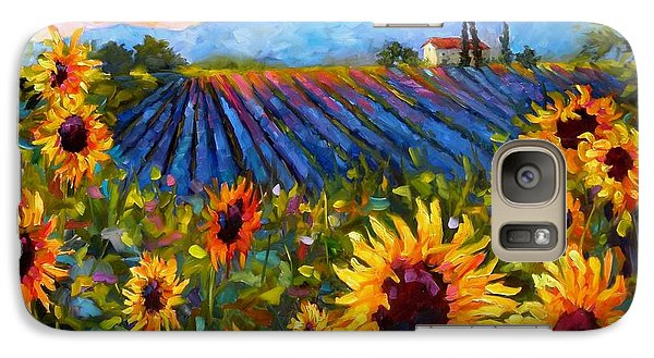 Galaxy Case featuring the painting Spread A Little Sunshine by Chris Brandley