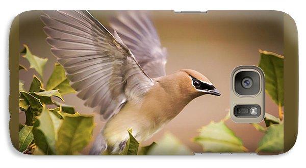 Cedar Waxing Galaxy S7 Case - Spread Your Wings Cedar Waxwing  by Terry DeLuco