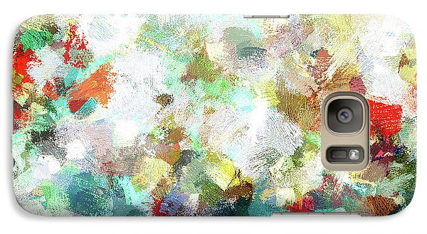 Galaxy Case featuring the painting Spring Abstract Art / Vivid Colors by Ayse Deniz