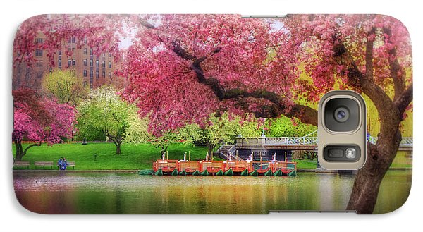 Galaxy Case featuring the photograph Spring Afternoon In The Boston Public Garden - Boston Swan Boats by Joann Vitali