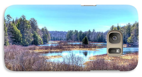 Galaxy Case featuring the photograph Spring Scene At The Tobie Trail Bridge by David Patterson