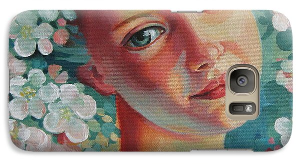 Galaxy Case featuring the painting Spring B by Elena Oleniuc