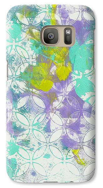 Galaxy Case featuring the mixed media Spring Begins by Lisa Noneman