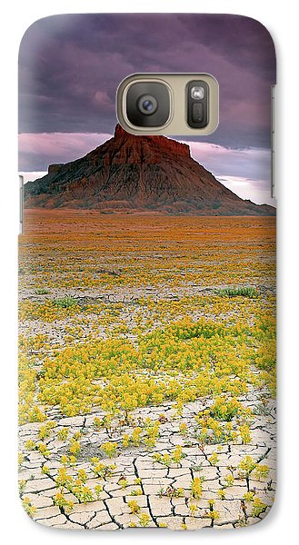Galaxy Case featuring the photograph Spring Bloom At Factory Butte. by Johnny Adolphson