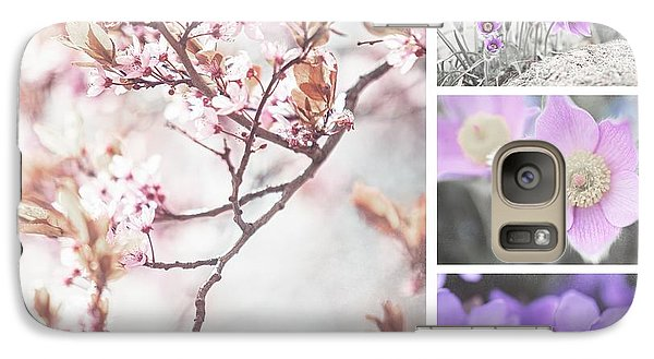 Galaxy Case featuring the photograph Spring Bloom Collage 1. Shabby Chic Collection by Jenny Rainbow