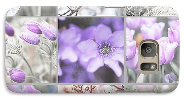 Galaxy Case featuring the photograph Spring Bloom Collage. Shabby Chic Collection by Jenny Rainbow