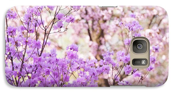 Galaxy Case featuring the photograph Spring Bloom Of Rhododendron  by Jenny Rainbow