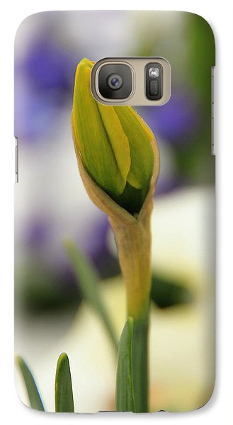 Galaxy Case featuring the photograph Spring Blooms In The Snow by Chris Berry