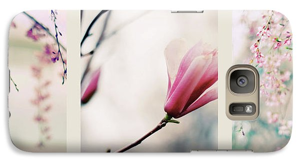 Galaxy Case featuring the photograph Spring Blossom Triptych by Jessica Jenney