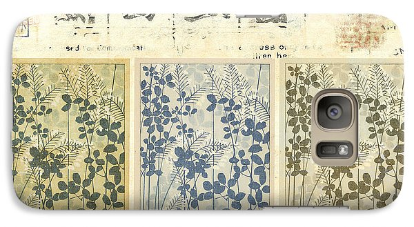 Galaxy Case featuring the mixed media Spring Botanical Design by Carol Leigh