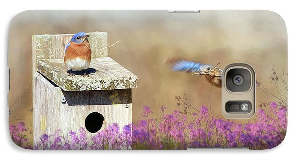 Galaxy Case featuring the photograph Spring Builders by Lori Deiter