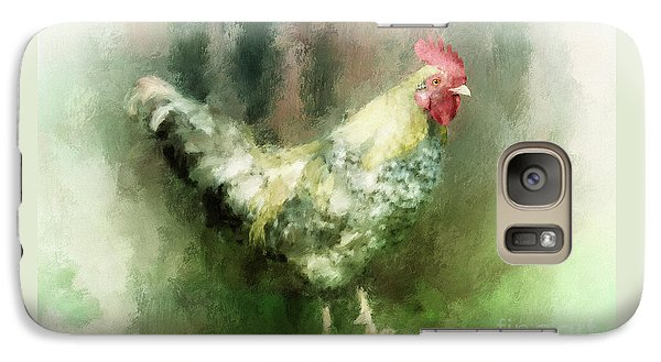 Galaxy Case featuring the digital art Spring Chicken by Lois Bryan