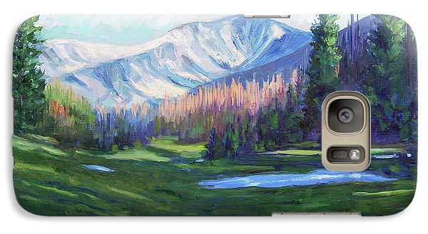 Galaxy Case featuring the painting Spring Colors In The Rockies by Billie Colson