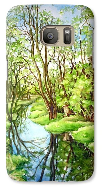 Galaxy Case featuring the painting Spring Creek by Inese Poga