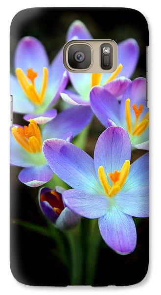 Galaxy Case featuring the photograph Spring Crocus by Jessica Jenney