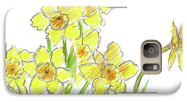 Galaxy Case featuring the painting Spring Daffodils by Cathie Richardson