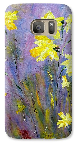 Galaxy S7 Case featuring the painting Spring Daffodils by Claire Bull