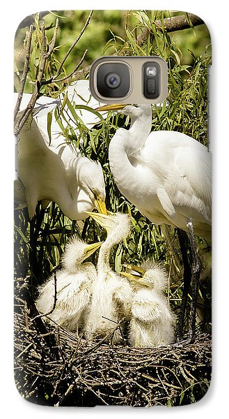 Galaxy Case featuring the photograph Spring Egret Chicks by Robert Frederick
