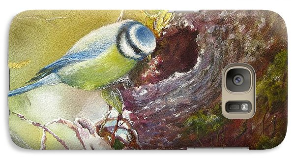 Galaxy Case featuring the painting Spring Feeding by Patricia Schneider Mitchell