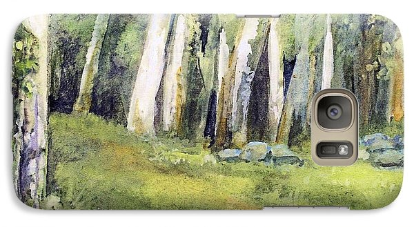 Galaxy Case featuring the painting Spring Field by Laurie Rohner