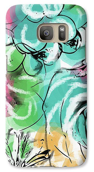 Galaxy Case featuring the mixed media Spring Floral 9- Art By Linda Woods by Linda Woods