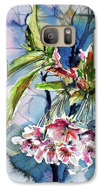 Galaxy Case featuring the painting Spring Flower by Kovacs Anna Brigitta