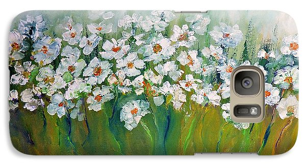 Galaxy Case featuring the painting Spring Flowers by AmaS Art
