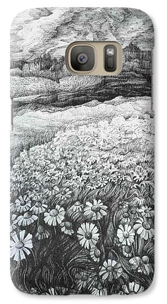 Galaxy Case featuring the drawing Spring Flowers by Anna  Duyunova