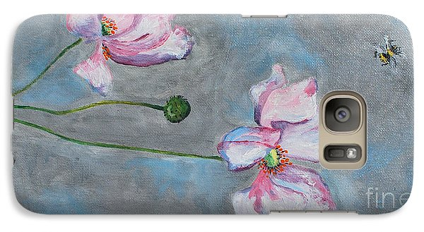 Galaxy Case featuring the painting Spring Flowers  by Reina Resto