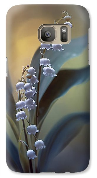 Lily Galaxy S7 Case - White Pearls by Magda  Bognar