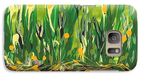 Galaxy Case featuring the painting Spring Garden by Holly Carmichael