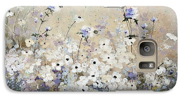 Galaxy Case featuring the painting Spring Gardens by Laura Lee Zanghetti